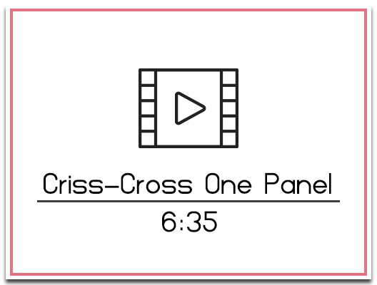 10. Criss-Cross Backdrop
