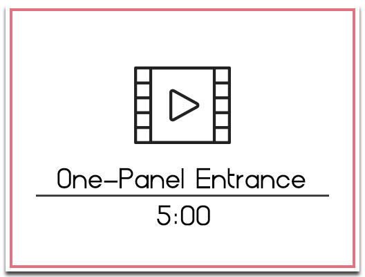26.2 One Panel Entrance