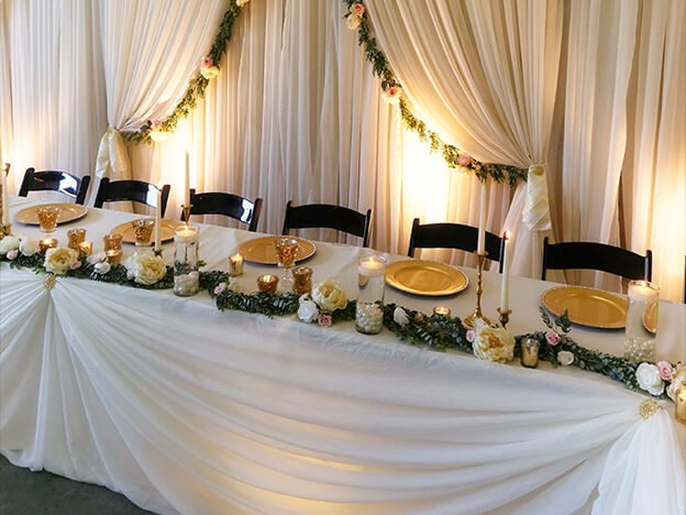 Unit 3 table decor draping iwed online lesson 10 part 1 banquet table draping junglespirit Choice Image