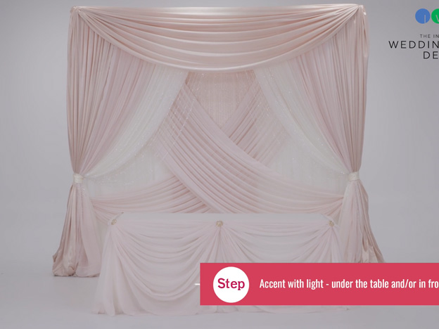 1. Video: Banquet with Satin Valance